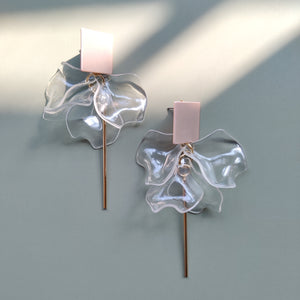Inverted Clear Petal & Metallic Top - Pink Gold
