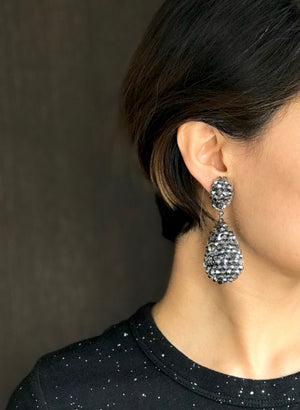 Alexis Drop Earrings -  Black