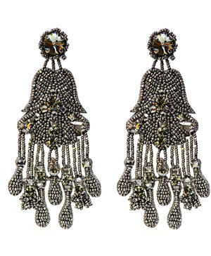 Riana Statement Earrings - Gun