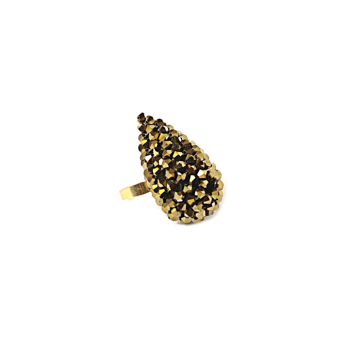Alexis Finger Ring - Large Antique Gold