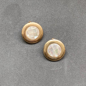 Classic Checked Studs - Gold