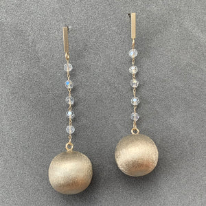 Suspended Ball Earrings - Champagne Gold