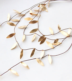 The Organised Vine Statement Necklace - Bronze