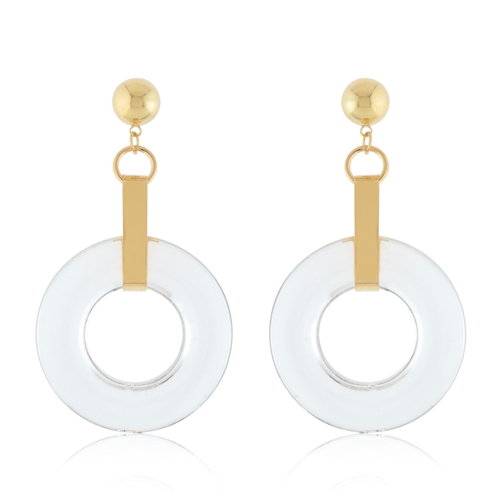Olga Perspex Earrings - Large