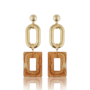 Ina Statement Earrings - Amber