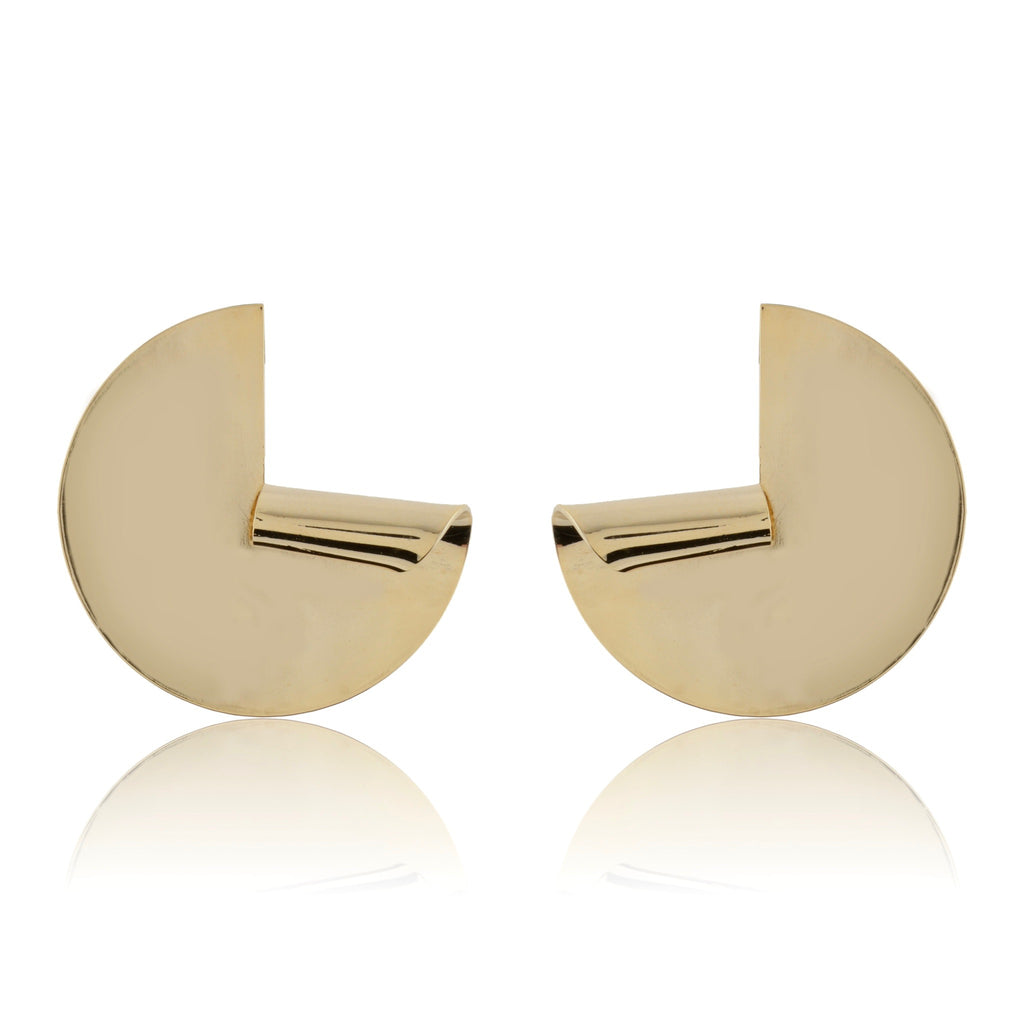 Curl Metal Statement Studs