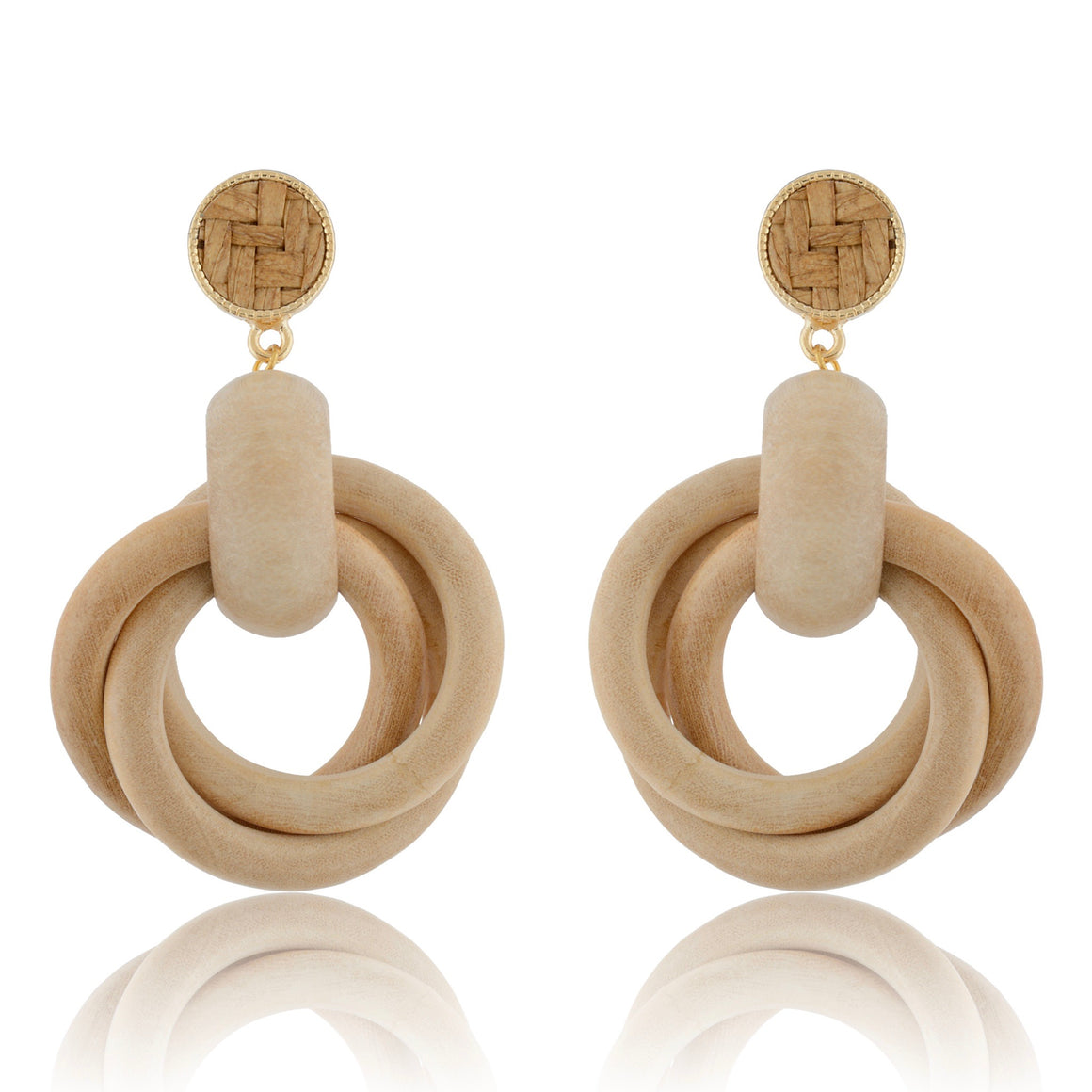 The Wood Knot Earrings