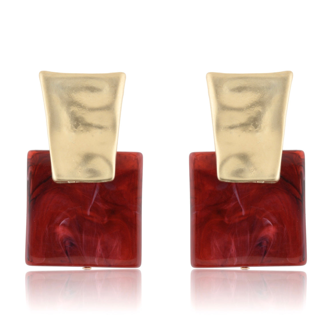 Red Wine Marbled Studs