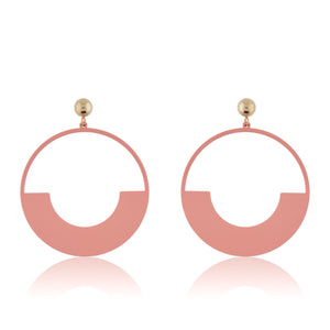 Tatum Earrings - Matte Pink