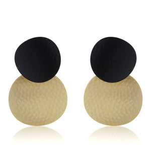 Kaori Earrings - Black Gold