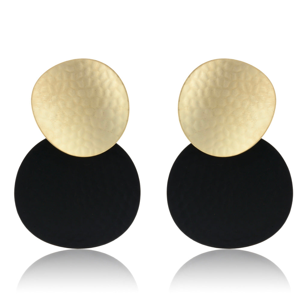 Kaori Earrings - Gold & Black