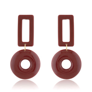 Shay Earrings - Maroon