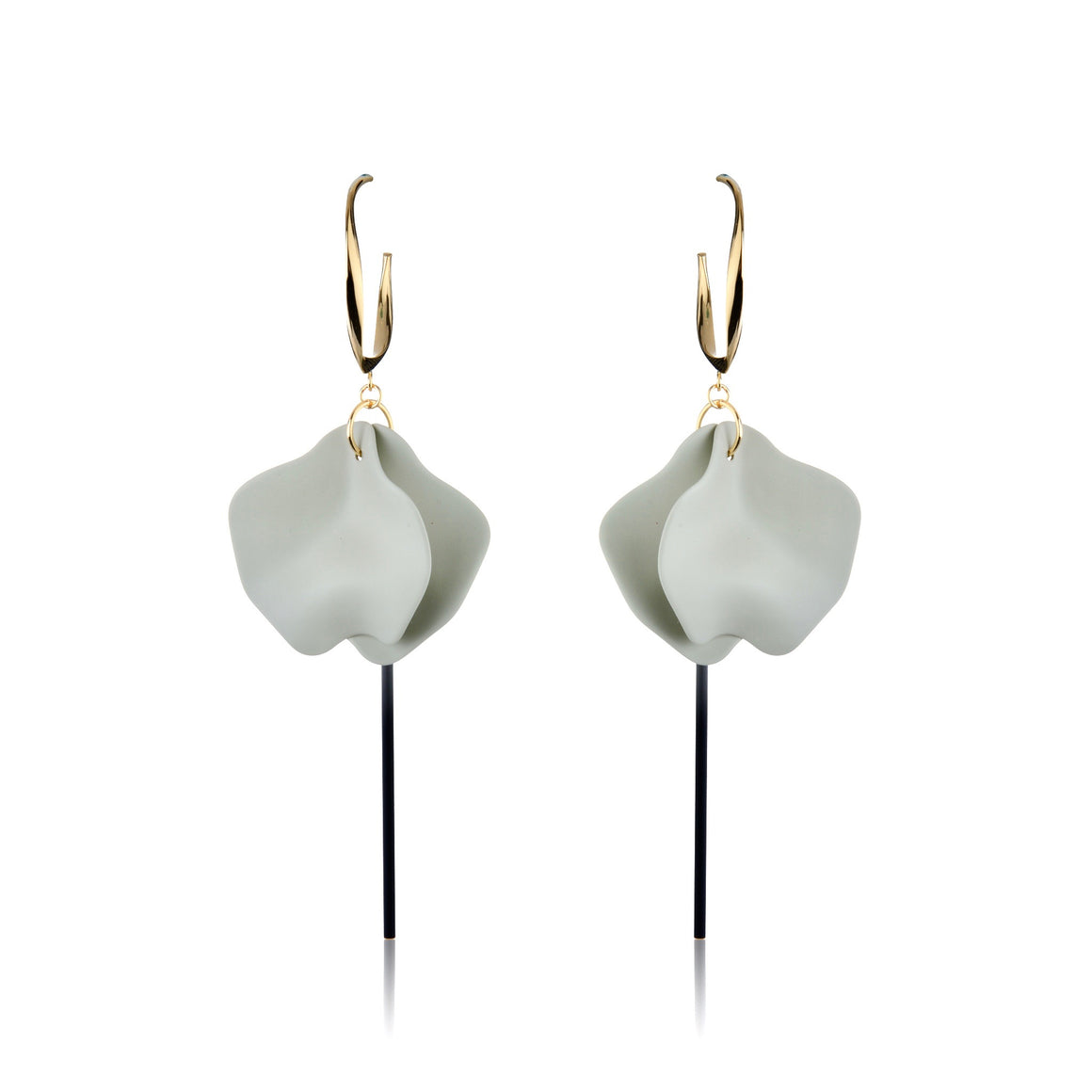 Liz Earrings - Sage Grey