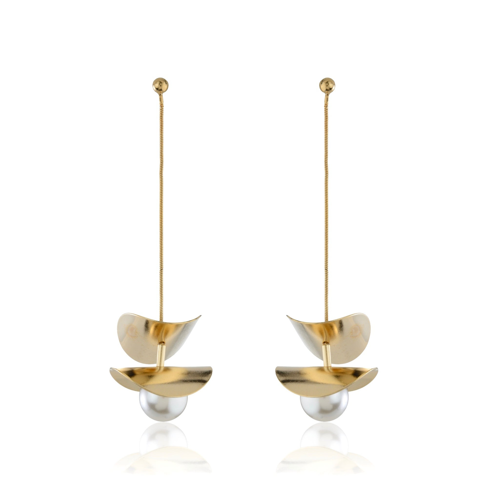 The Pearl SuspensionEarrings - Gold