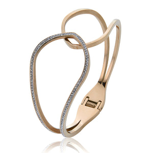 1/2 Diamante Bracelet - Rose Gold