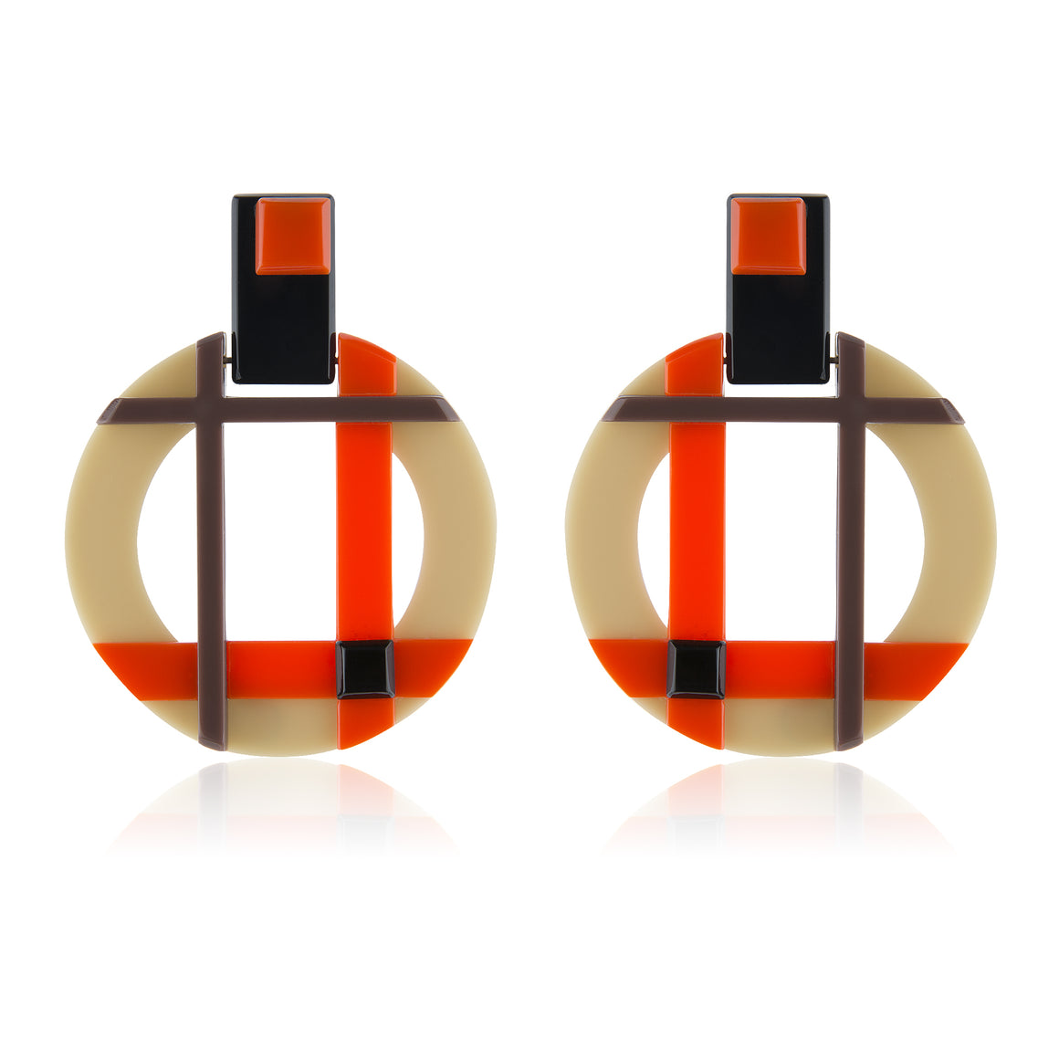 Abstract Geometry - Tartan Orange