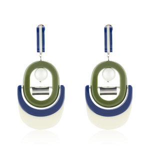 Olivia Earrings - Blue Green