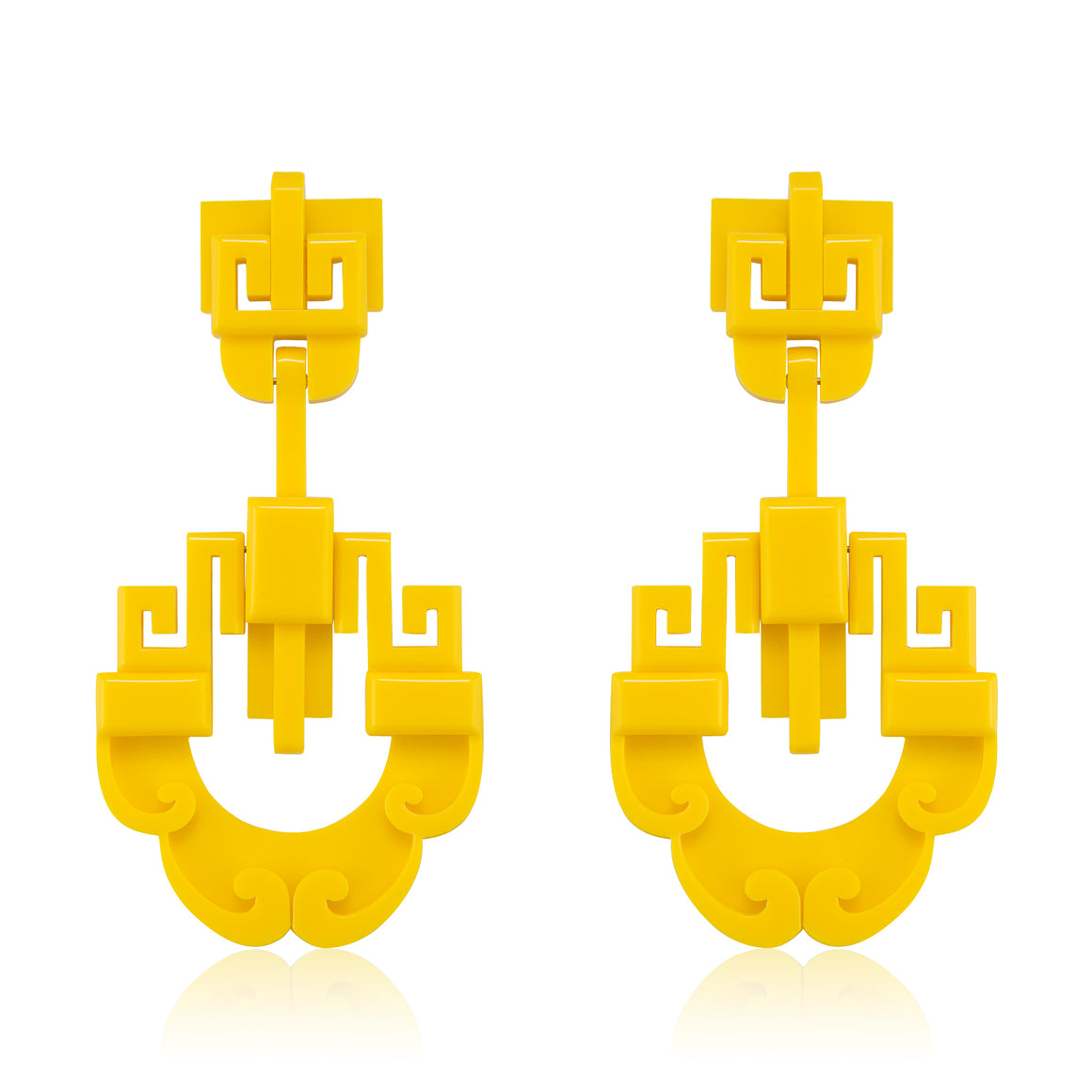 Shanghai Earrings - Yellow