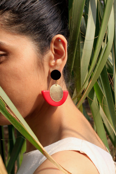 Joyce Earrings - Maroon