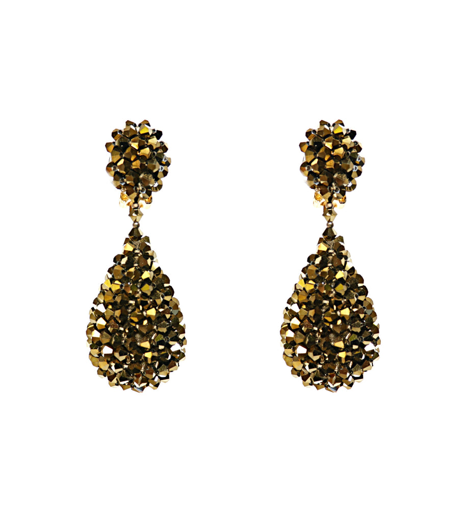 Alexis Drop Earrings -  Antique Gold