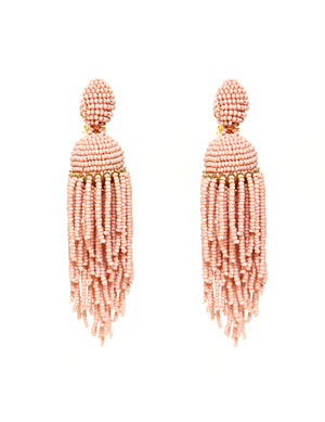 Chandelier Tassel Earrings - Vintage Pink