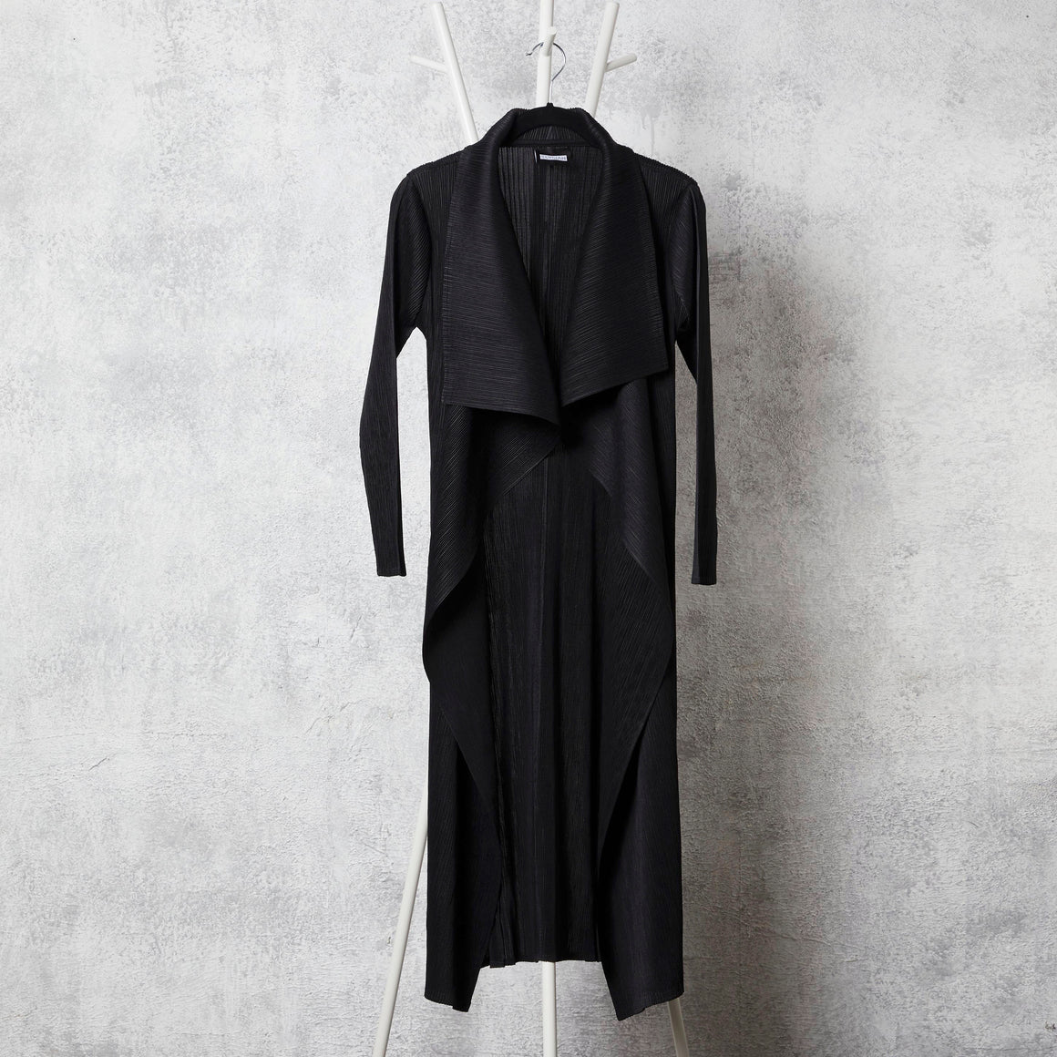 Pleated Overlay - Black