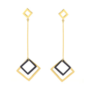 Petitie Descending Rhombus Earrings