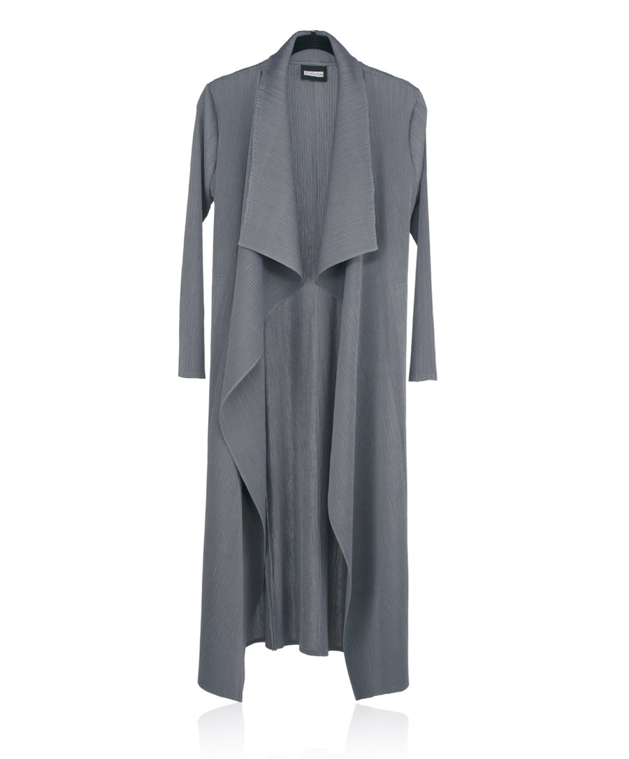 Pleated Overlay - Grey