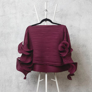 Rays Top - Red Wine - M