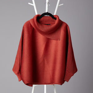 Batwing Turtleneck Top - Rust
