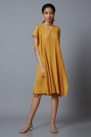Alicia Dress - Ochre Yellow
