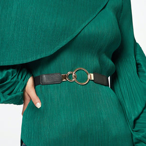 Double Ring Clasp Belt - Black