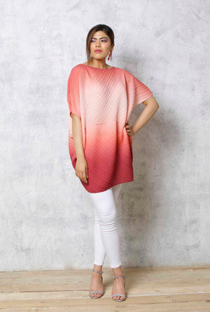Ombre Assymertic Tunic - Sunset