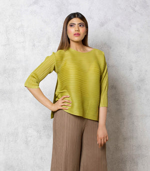 The Side Panelled Top - Yellow