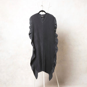 Side Ruffle Dress - Dark Grey