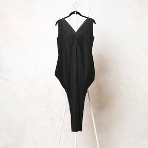 Kimono Sleeveless Dress - Black