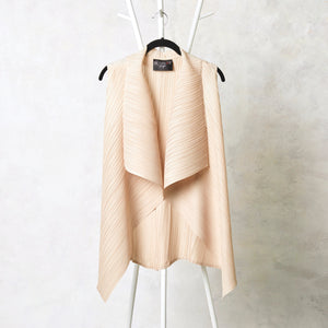 Sleeveless Overlay -  Cream