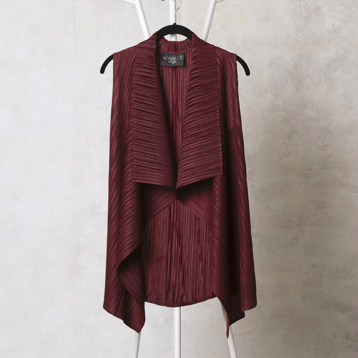 Sleeveless Overlay - Maroon