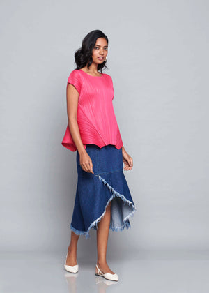 Flair Panel Sleeveless Everyday Top - Ash Pink