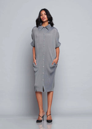 Shirt Dress Monotone - Grey