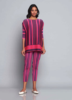 Co-ord Stripe Set - Hot Pink & Navy