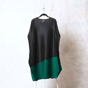 Tunic Dress - Black & Green