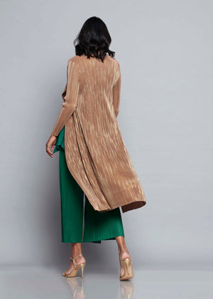 Pleated Overlay - Coco & Gold