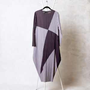 Absinthe Abstract Dress - Grey & Charcoal