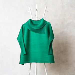 3/4th Sleeve Turtle Neck - Dark Green