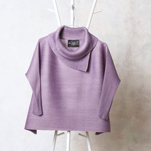 3/4th Sleeve Turtle Neck - Lavender