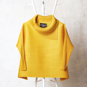 3/4th Sleeve Turtle Neck - Yellow
