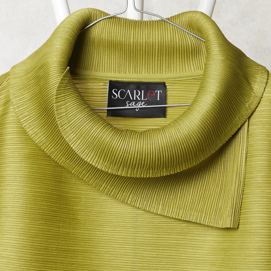 3/4 Sleeve Turtle Neck - Peridot Green