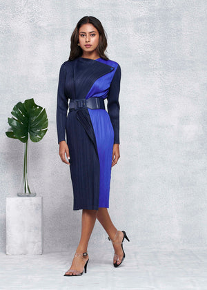 Mellie Dress - Navy & Blue