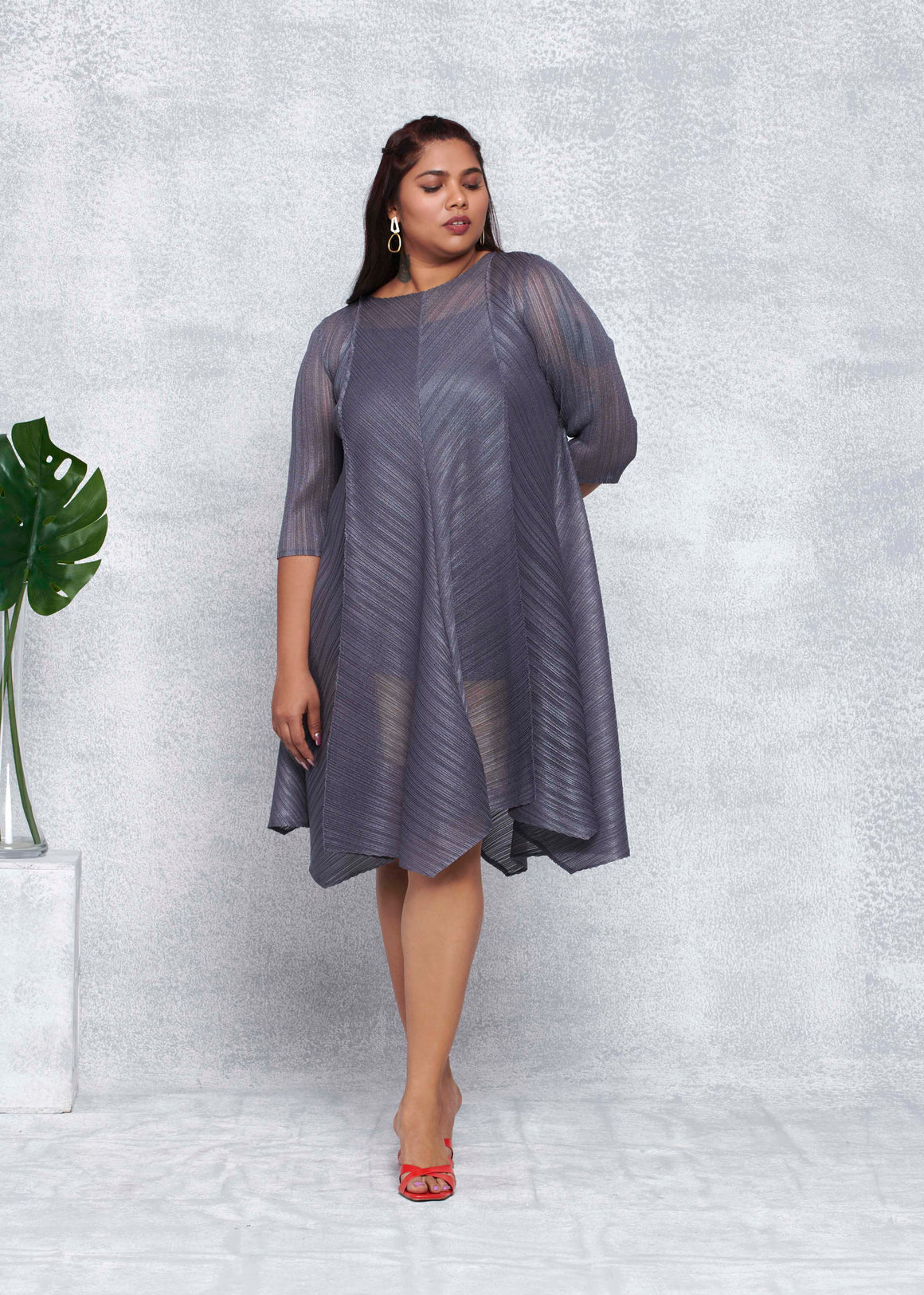 Sara Dress - Dark Grey